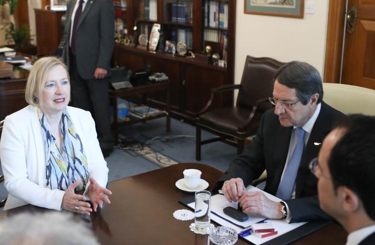 Συναντήσεις Σπέχαρ με ηγέτες ενόψεις συνεδρίας ΣΑ για ΟΥΝΦΙΚΥΠ