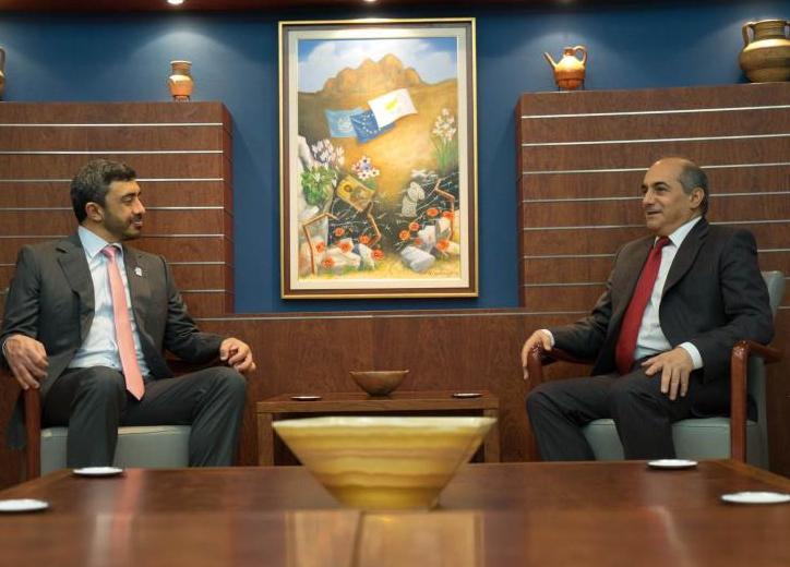 ΠτΒ - ΥΠΕΞ ΗΑΕ: Συζήτησαν για Κυπριακό και εξελίξεις σε Μ.Ανατολή