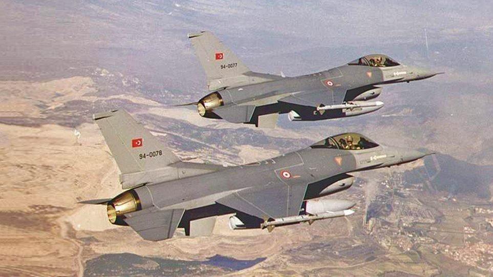 Νέες υπερπτήσεις: Τουρκικά F-16 πάνω από τρία ελληνικά νησιά