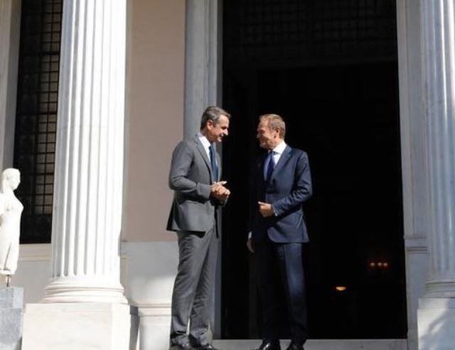 Brexit και Τουρκία στο επίκεντρο της συνάντησης Μητσοτάκη - Τουσκ