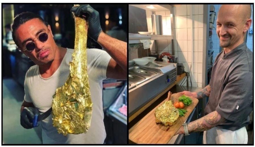 Ο Salt Bae των φτωχών: Πουλάει την χρυσή μπριζόλα €600 πιο φθηνά