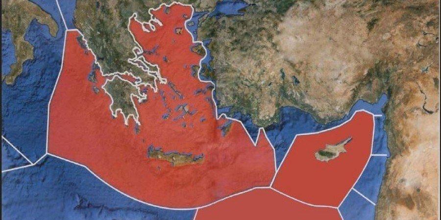 Η ΑΟΖ όπως την υποστηρίζουν οι Κύπρος - Ελλάδα - Αίγυπτος