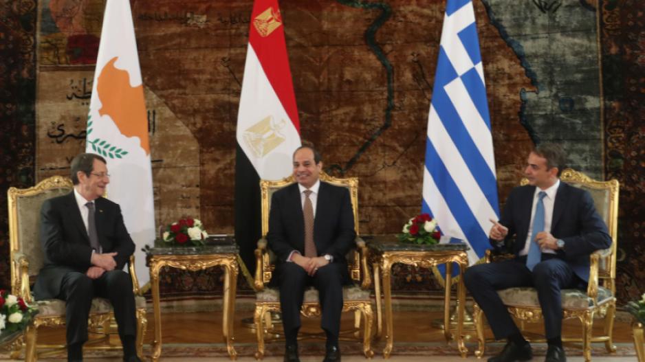Αποτέλεσμα εικόνας για τριμερής συνάντηση Καΐρου